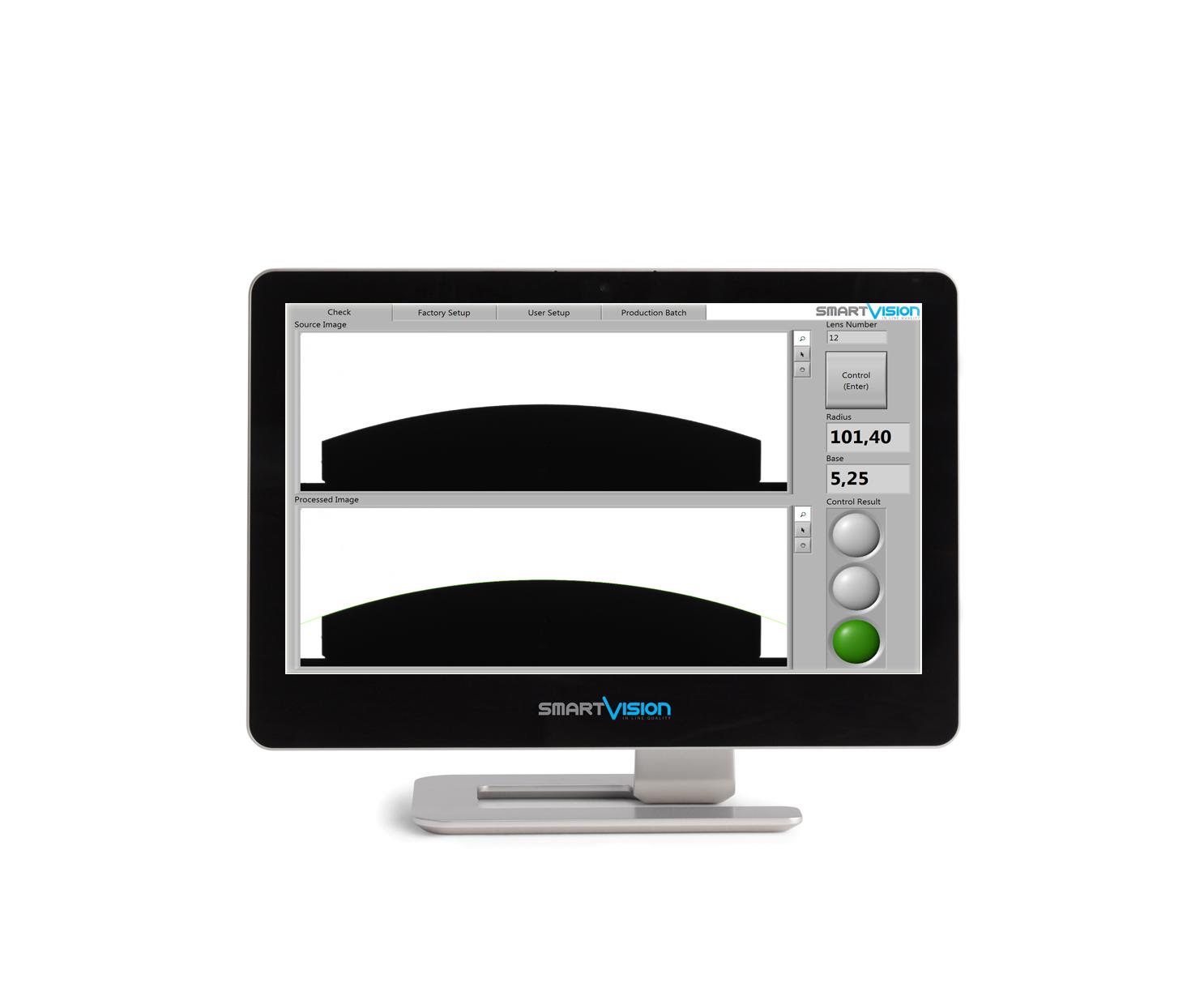 AIO software for lens measurements