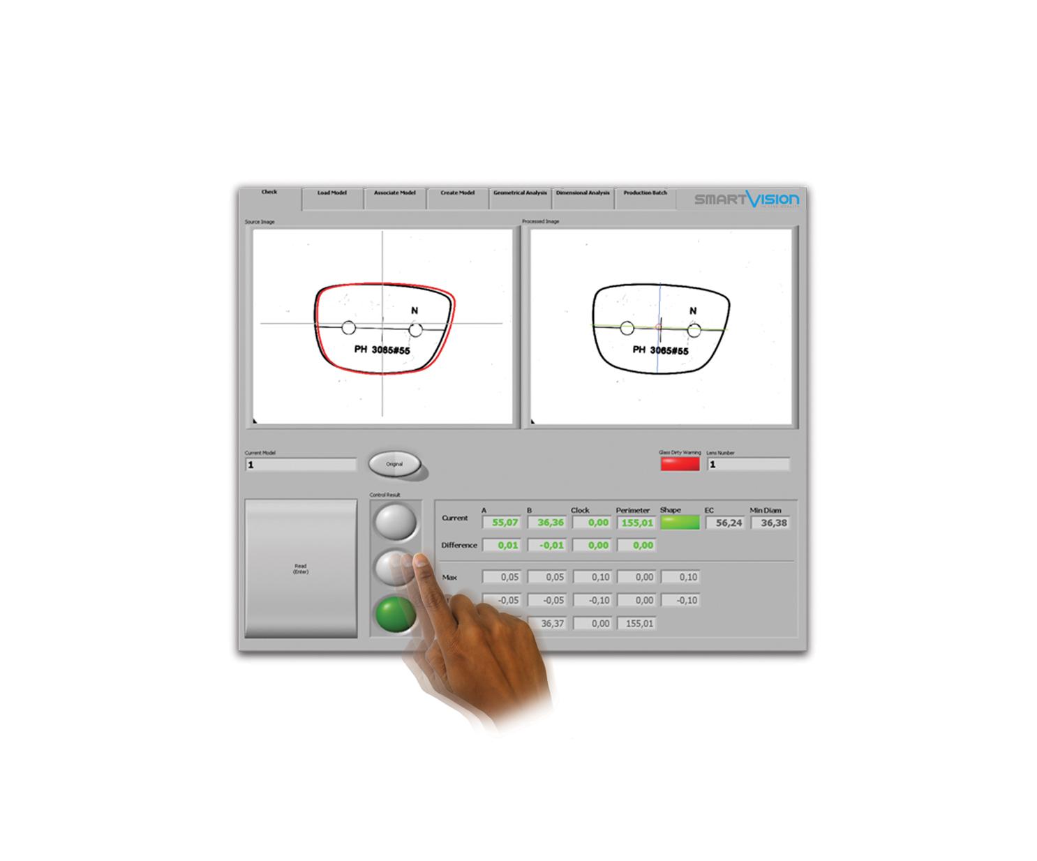 Smart_Shape Lens Shape Quality Control Equipment