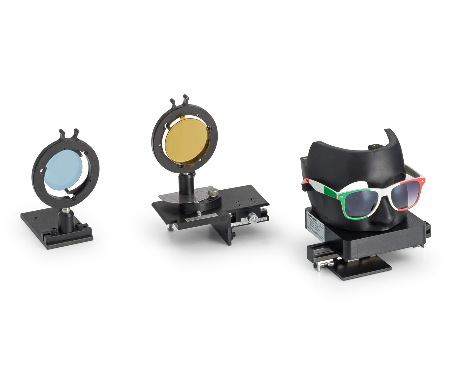 Two solution to perform an automatic check of optical powers of SunGlasses and SunLenses