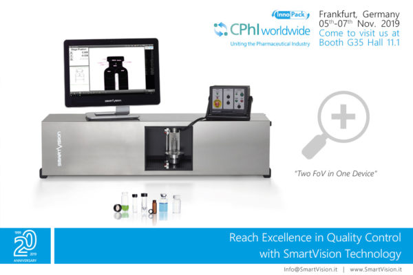 SmartVision at CPhI show 2019 in Franckfurt, Germany