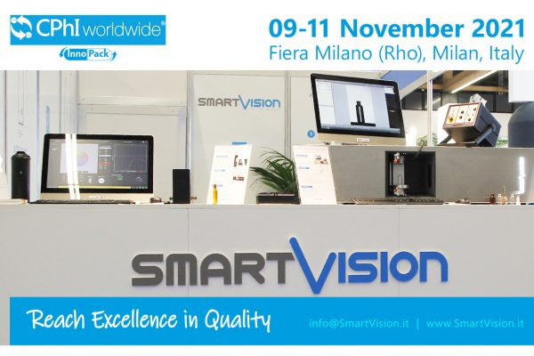 SmartVision Quality Control at CPHI show 2021 in Milan, Italy